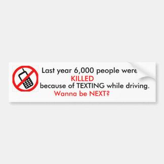 MATARON el año pasado a 6.000 personas debido a… Pegatina Para Auto