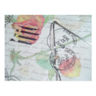 Matasellos de la letra de amor tarjeta postal