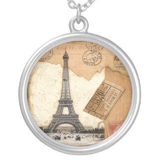 Matasellos de París, torre Eiffel Collar Personalizado
