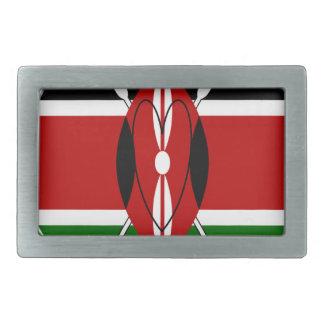 Matata Karaibu Kenia de Hakuna Hebillas Cinturón Rectangulares