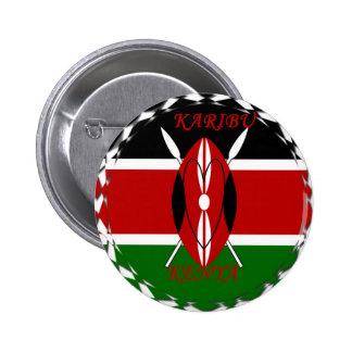 Matata Karaibu Kenia de Hakuna Pin Redondo De 2 Pulgadas