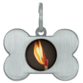 Match and fire pet ID tag