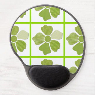 Match Any Color Faux Fabric Collage Flower Gel Mouse Pad