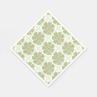 Match Any Color Faux Fabric Collage Flower Napkin
