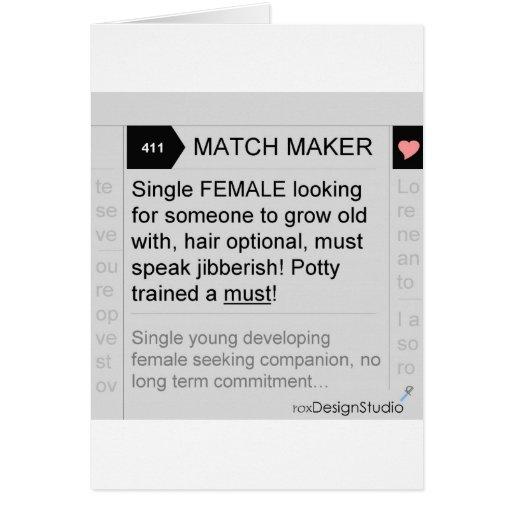 Match Maker Female Greeting Card