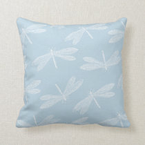 Match My Color Scheme Custom Hue Dragonfly Pattern Throw Pillow