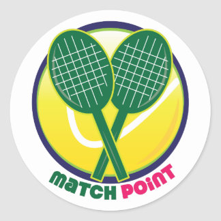 Match Point Classic Round Sticker