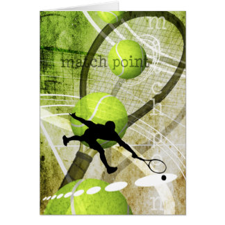 Match Point Greeting Card