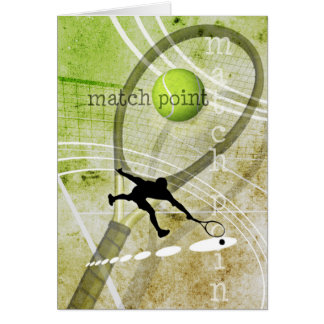Match Point II Greeting Card