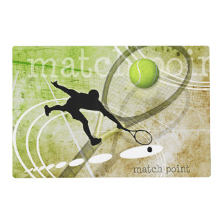Match Point II Laminated Place Mat