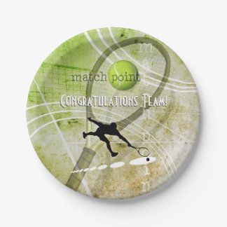 Match Point II Paper Plate