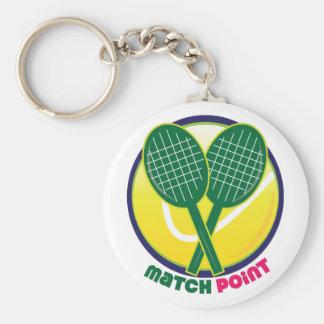 Match Point Key Chain