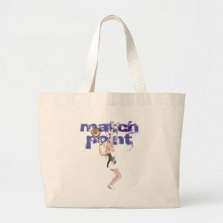 Match Point Tennis Tote Jumbo Tote Bag