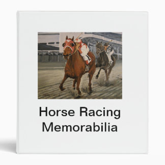 Match Race – Seabiscuit vs. War Admiral Painting 3 Ring Binder