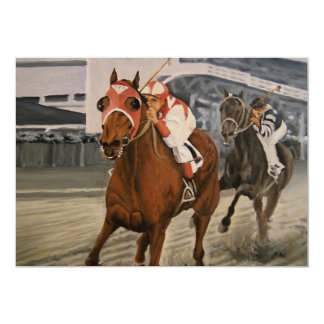 Match Race – Seabiscuit vs. War Admiral Painting Card