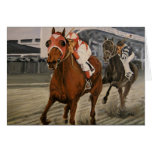 Match Race – Seabiscuit vs. War Admiral Painting Greeting Card