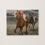 Match Race – Seabiscuit vs. War Admiral Painting Jigsaw Puzzle