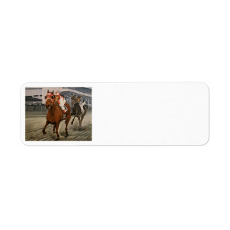 Match Race – Seabiscuit vs. War Admiral Painting Return Address Label