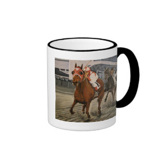 Match Race – Seabiscuit vs. War Admiral Painting Ringer Coffee Mug