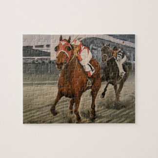 Match Race – Seabiscuit vs. War Admiral Painting Puzzles