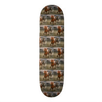 Match Race – Seabiscuit vs. War Admiral Painting Skateboard