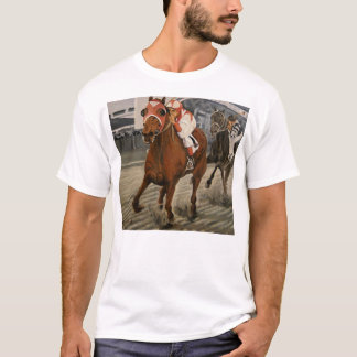 Match Race – Seabiscuit vs. War Admiral Painting T-Shirt