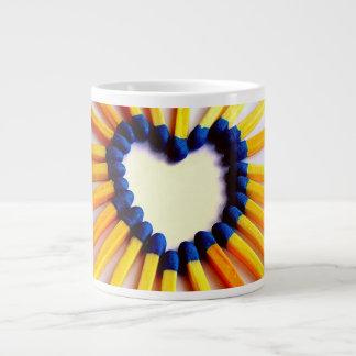 Match Stick Heart Large Coffee Mug