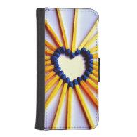 Match Stick Heart Phone Wallet