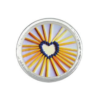Match Stick Heart Ring