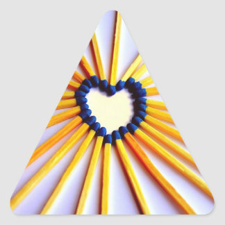 Match Stick Heart Triangle Sticker