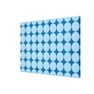 Match Wall Decor : SkyBLUE Circles Canvas Print