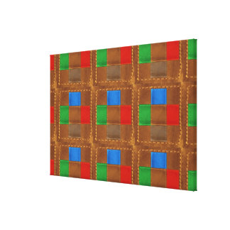 Match Wall Decor : Stitched Leather Patchwork
