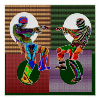 Match Wall Decorations : ZOMBIE DANCE Moon Circles Posters