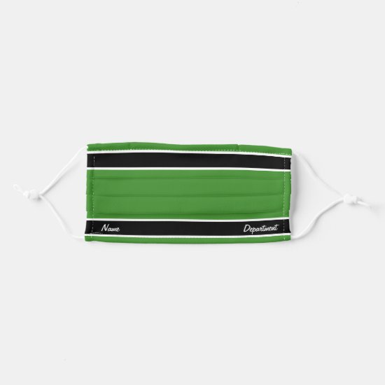 [Match Your Uniform] Bright Green Black Stripes Cloth Face Mask