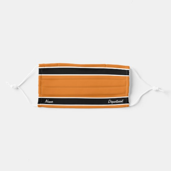 [Match Your Uniform] Burnt Orange Black Stripes Cloth Face Mask