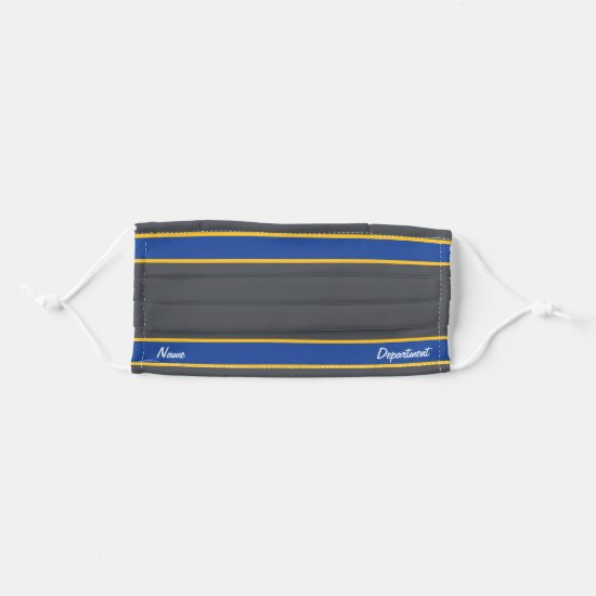 [Match Your Uniform] Gray w/ Blue Stripes Cloth Face Mask