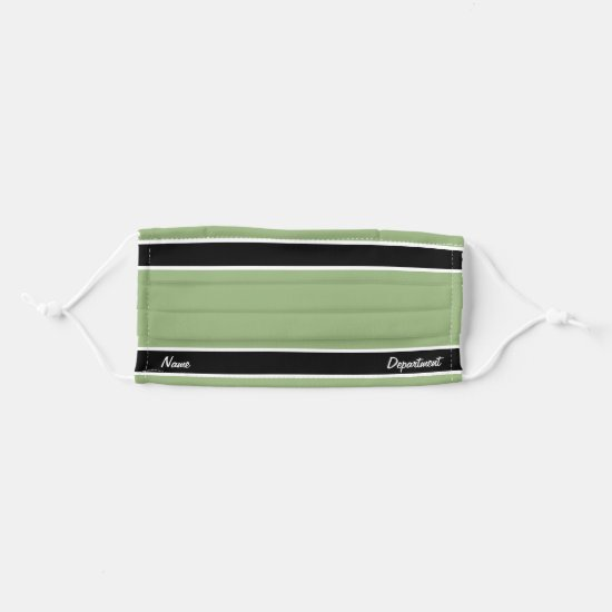 [Match Your Uniform] Pale Green w/ Black Stripes Cloth Face Mask