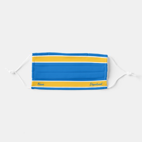 [Match Your Uniform] True Blue w/ Yellow Stripes Cloth Face Mask