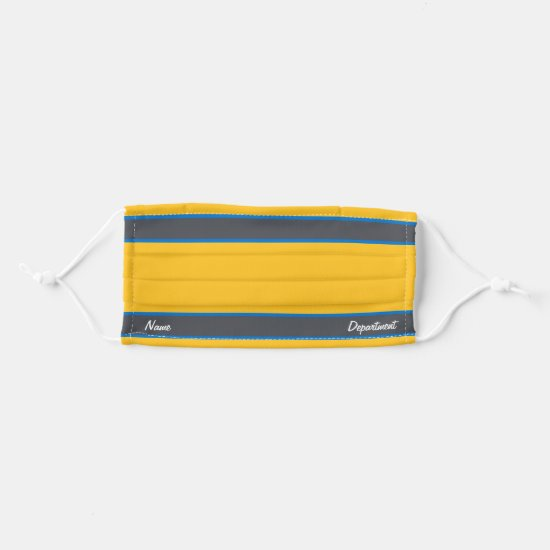 [Match Your Uniform] Yellow w/ Steel Gray Stripes Cloth Face Mask