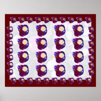 Match your Walls - Rose Petals Sunflower Pattern Poster
