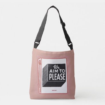 Professional Business matchbook cover We Aim to Please Crossbody Bag