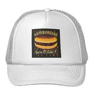 Matchbook del cheeseburger de las hamburguesas del gorros