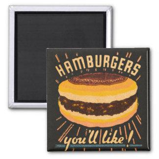 Matchbook del cheeseburger de las hamburguesas del imán cuadrado