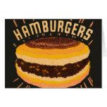Matchbook del cheeseburger de las hamburguesas del tarjetas