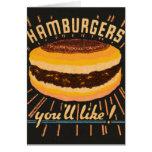 Matchbook del cheeseburger de las hamburguesas del tarjetón