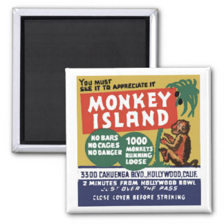 "Matchbook Magnets - ""Monkey Island"" Magnet"