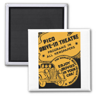 """Matchbook Magnets - """"Pico Drive-In Theatre"""" Magnet"""