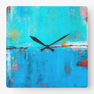 Matchbox Blues 5 Square Wall Clock
