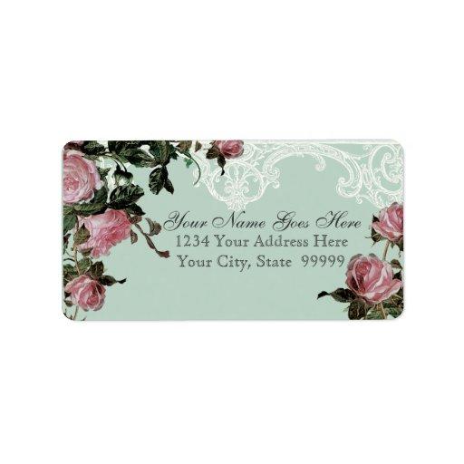 Matching Address Labels, Trellis Rose Vintage