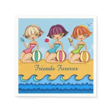 Beach Themed Matching Beach Girls Party Napkin